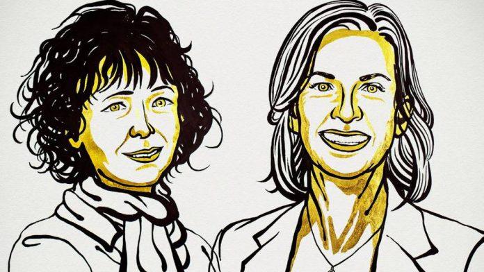 La Real Academia Sueca de Ciencias concedió el Premio Nobel de Química a Emmanuelle Charpentier y Jennifer Doudna. - Foto: Comité Nobel