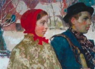 """La obra """"Winter"""" de Gari Melchers estaba exhibida en un museo del estado de Nueva York. Había sido confiscado por los nazis a una familia judía (AP)"""